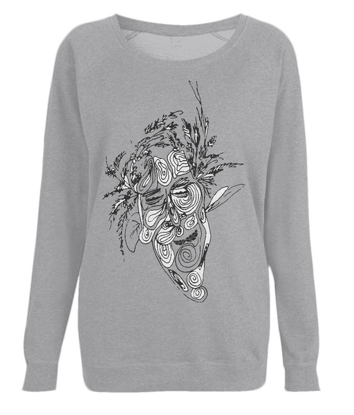 Women's Raglan Sweatshirt Tree.Man