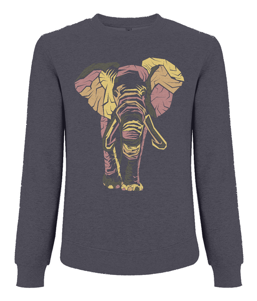 Men's Raglan Sweatshirt Elephant
