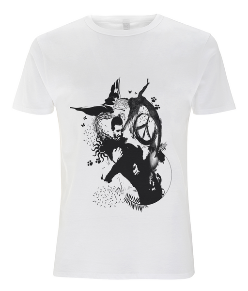 Tencel Blend Men's T-Shirt Abstract.Vegan.ii