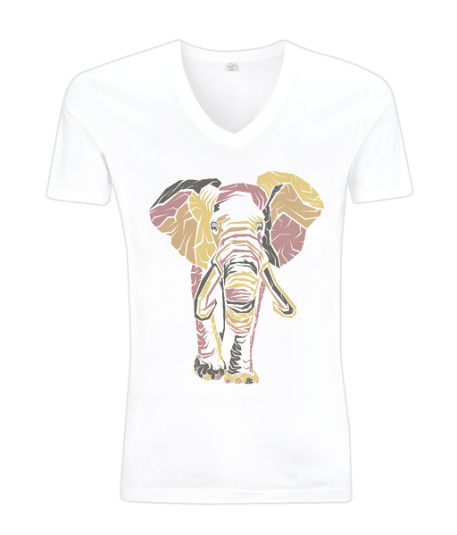 V-Neck Men's T-Shirt Elephant