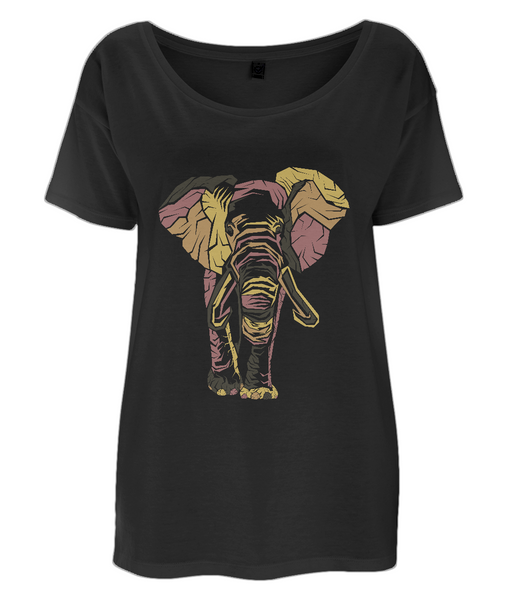 Women's Tencel Blend Oversized T-Shirt Elephant