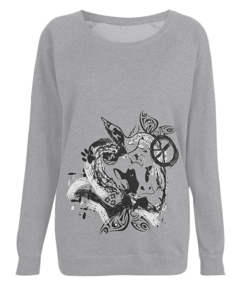Women's Raglan Sweatshirt Abstract.Vegan