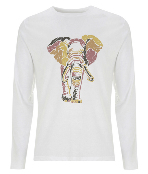 Men's Long Sleeve T-Shirt Elephant