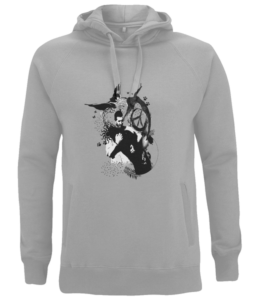 Unisex Pullover Hoodie Abstract.Vegan.ii
