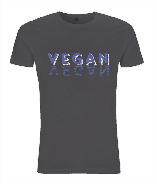 Slim Fit Jersey Men's T-shirt VEGAN-BLUE.w