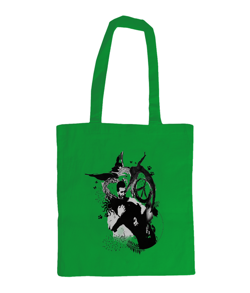 Shoulder Tote Bag Abstract.Vegan.ii