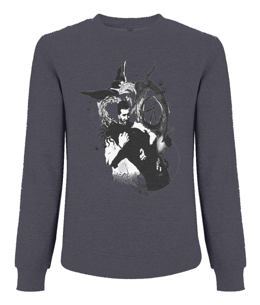 Men's Raglan Sweatshirt Abstract.Vegan.ii