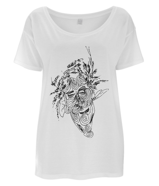 Women's Tencel Blend Oversized T-Shirt Tree.Man