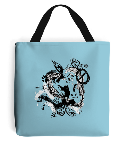 Tote Bag Abstract.Vegan