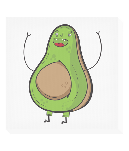 Square Canvas Avocado