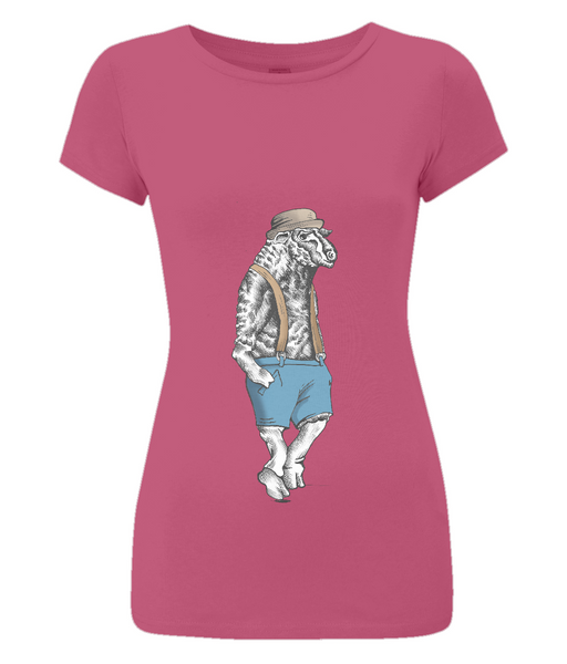 Women's Slim-Fit Jersey T-Shirt Sheep