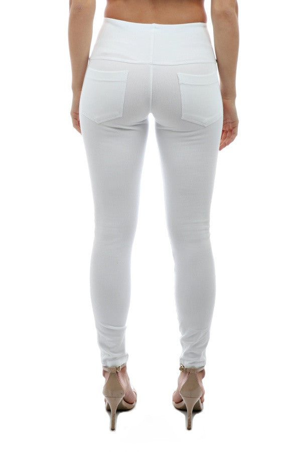 Toothpick Denim Pant - White