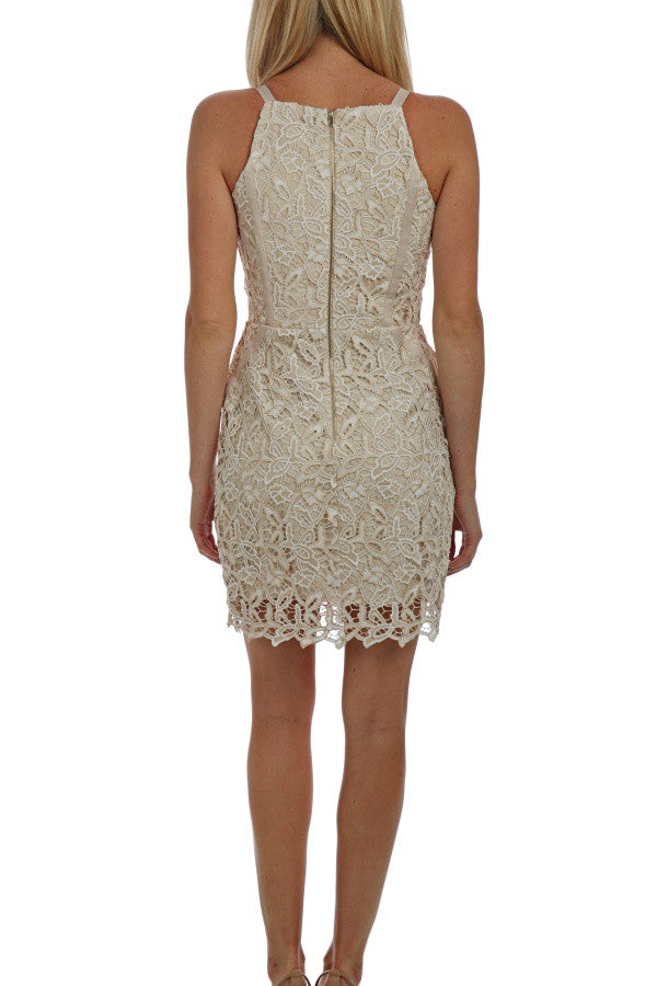 Olivia Lurex Dress - Ivory