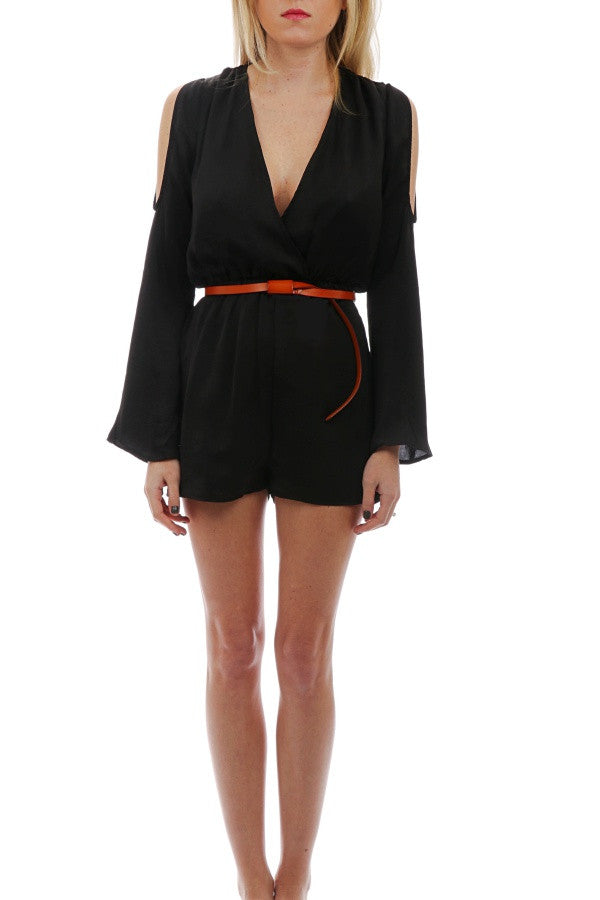 L/S Cold Shoulder Romper