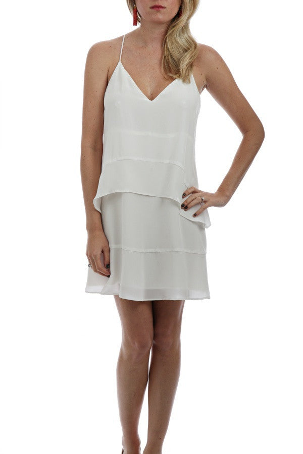 Silk Layered Dress - Ivory