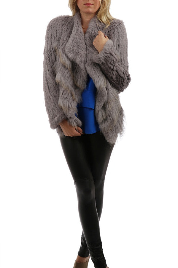 Jolene Fur Jacket - Haze