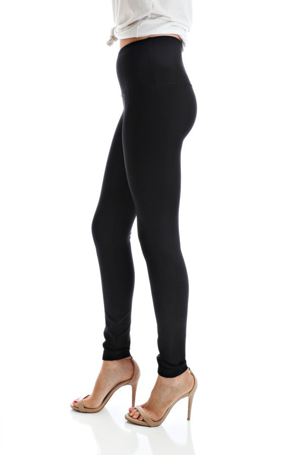 Center Seam Ponte - Black