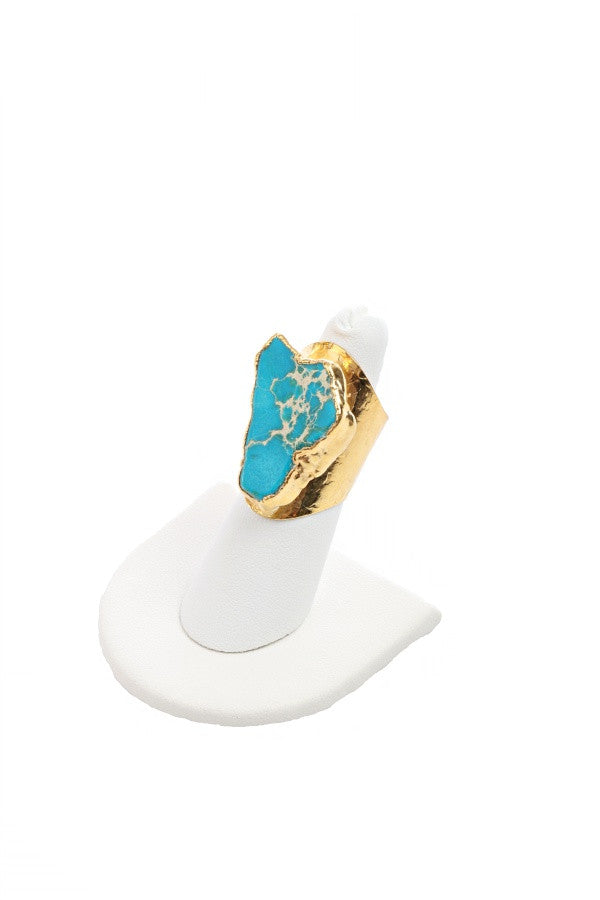 Turquoise Dream Cigar Ring (B)