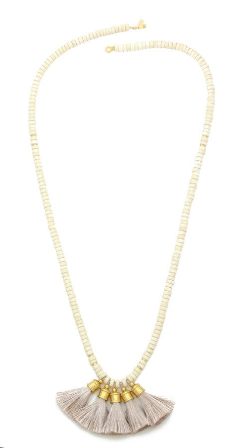 Crosby Necklace - Gold/Bone