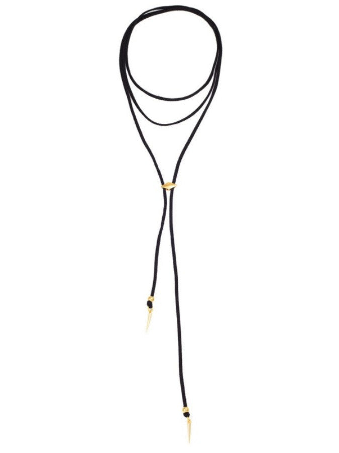Gold Spikes Black Bolo