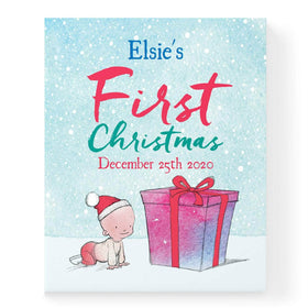 Personalised Baby First Christmas Childrens Book