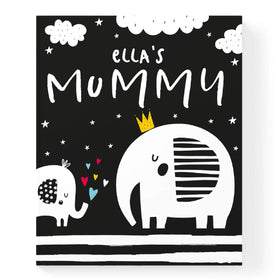 Personalised Black And White Baby Book