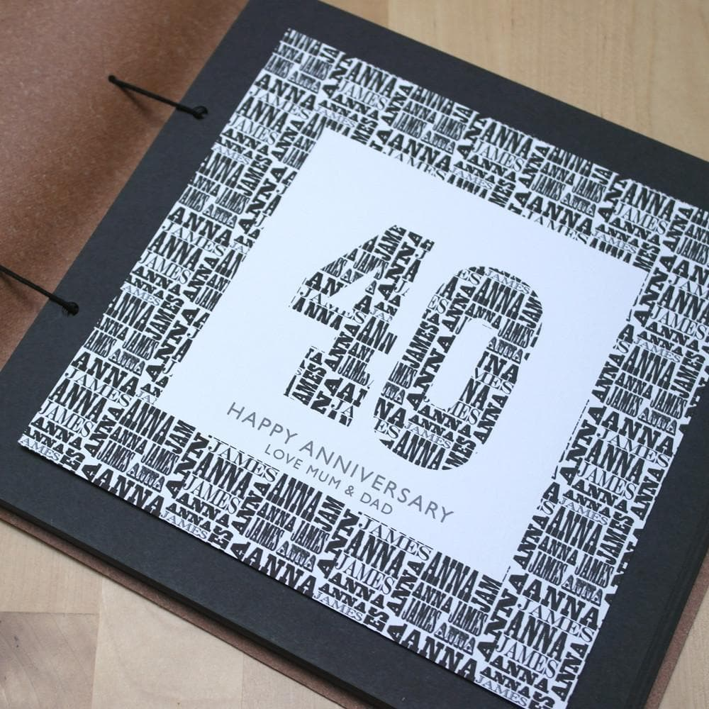 letterfest album Personalised Birthday Album