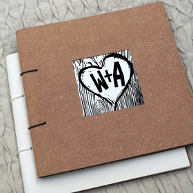 letterfest album Woodcut Album Or Guest Book