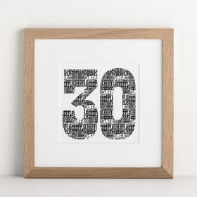letterfest art Birthday Number Print