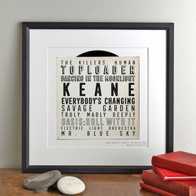 letterfest art Dad Rocks Personalised Playlist Print