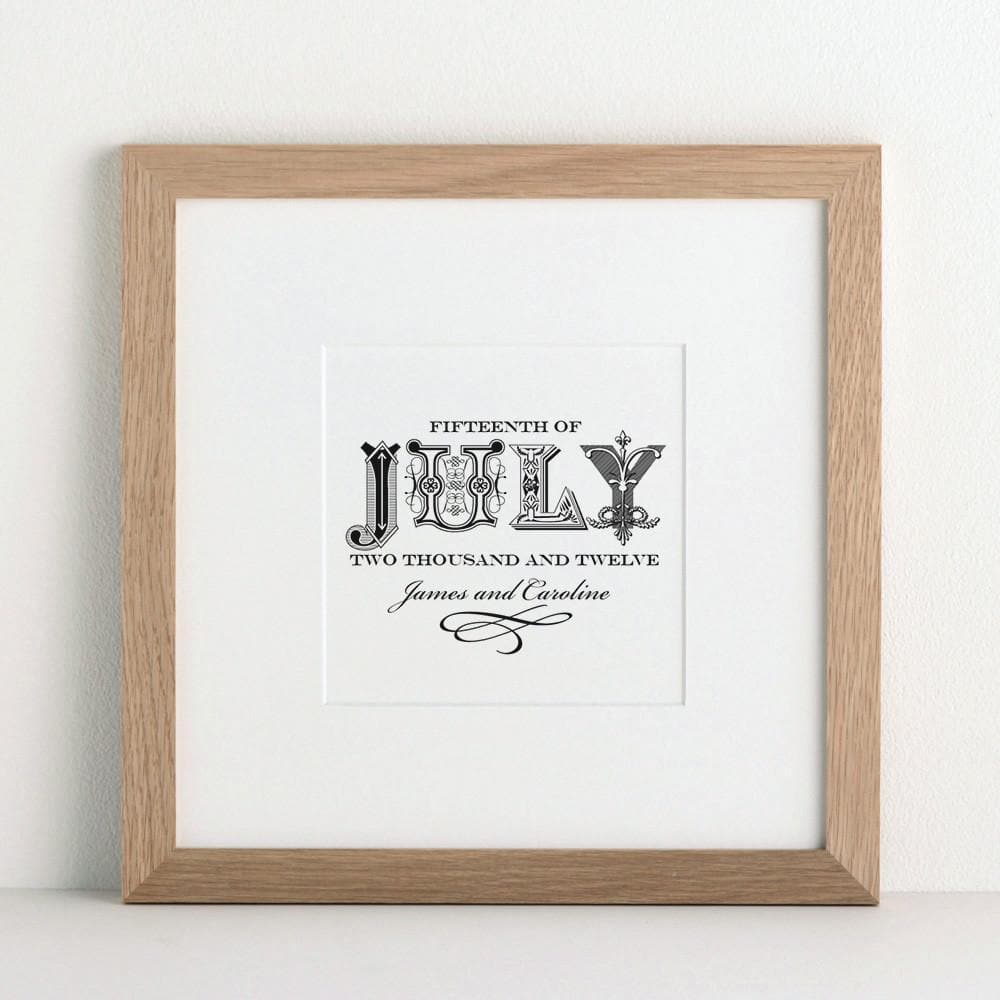 letterfest art Decorative Date Print