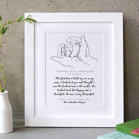 letterfest art First Mothers Day Memory Print