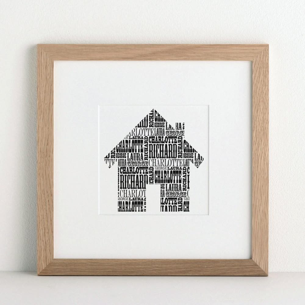 letterfest art Our Family House Print