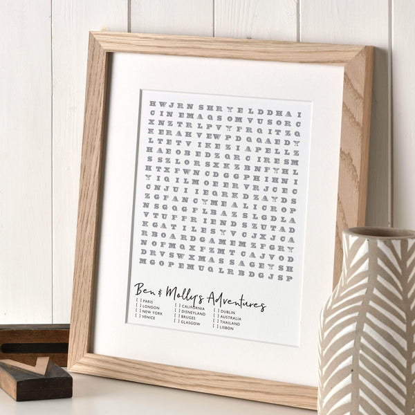 letterfest art Personal Wordgame Print