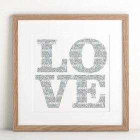 letterfest art Personalised Big Love Print