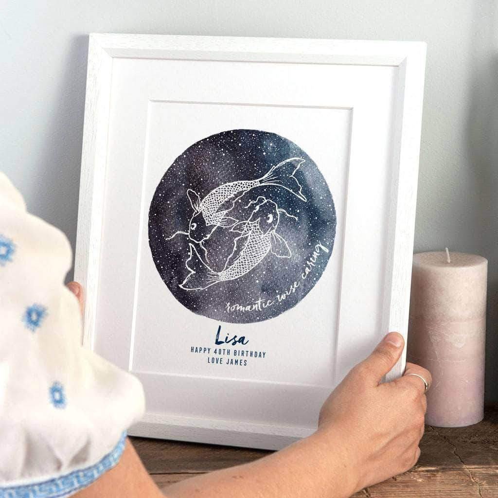 letterfest art Personalised Birthday Astrology Print