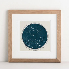 letterfest art Personalised Birthday Constellation Print