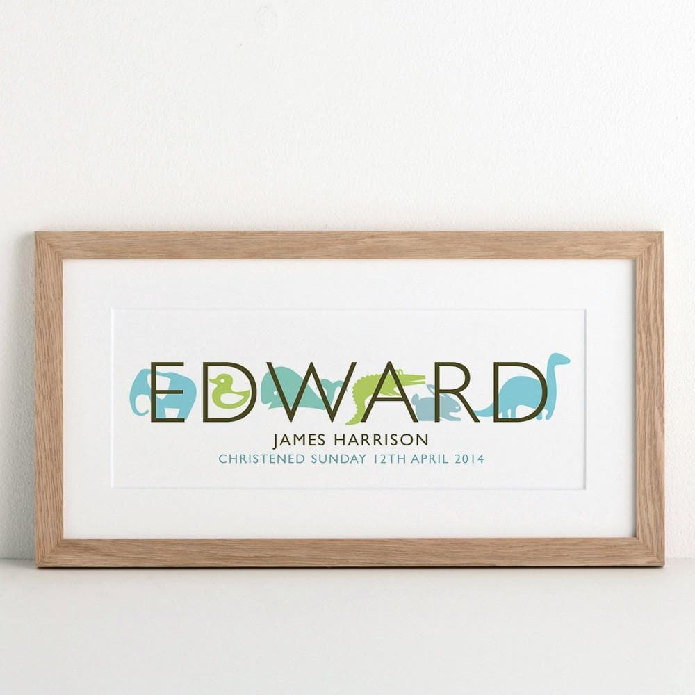 letterfest art Personalised Children's Name Print