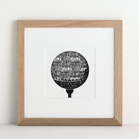 letterfest art Personalised Favourite Sport Print