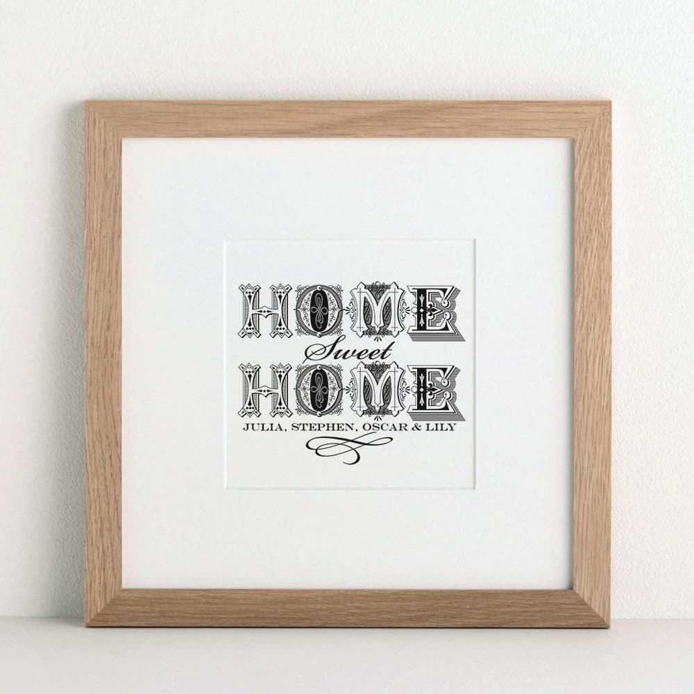 letterfest art Personalised Home Art Print