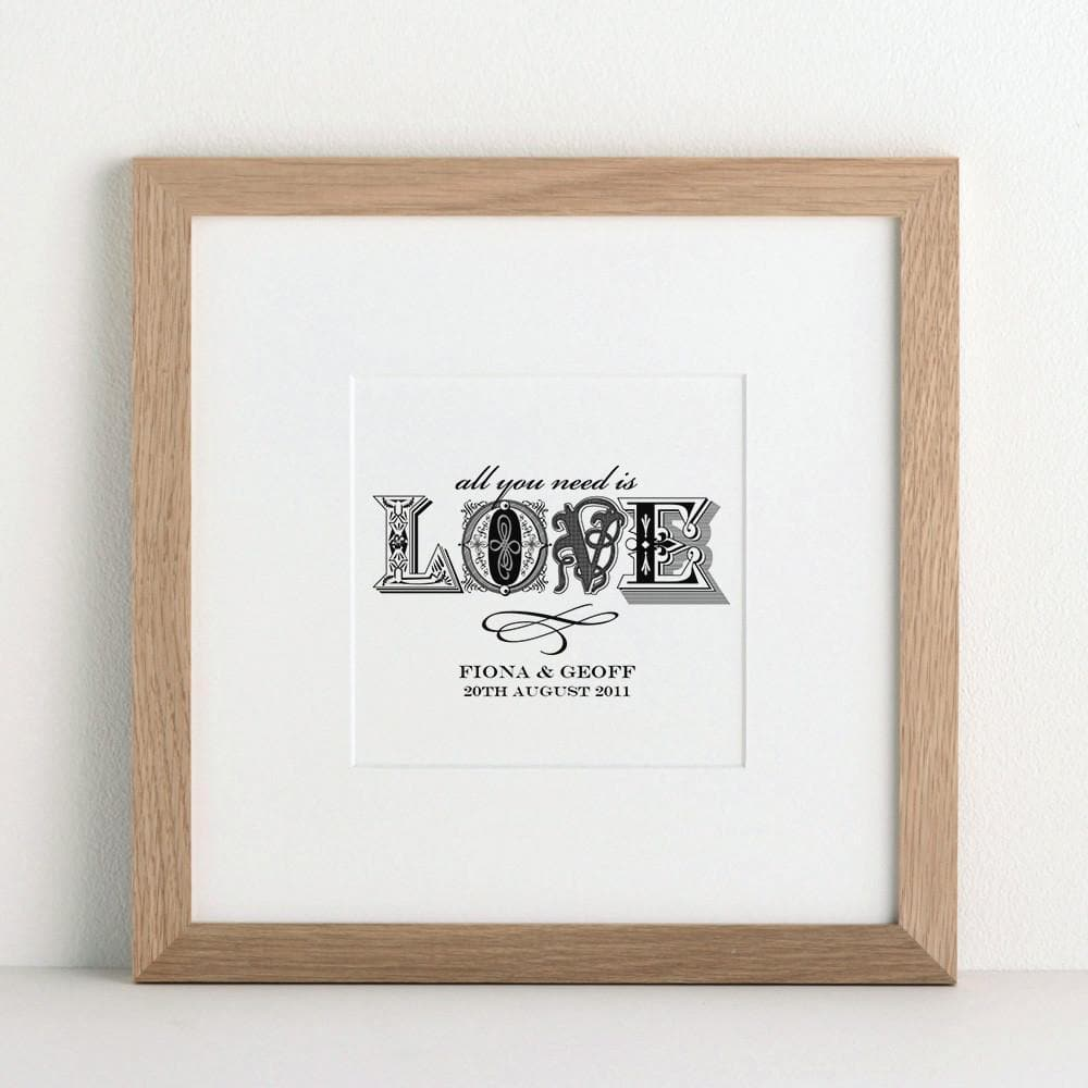 letterfest art Personalised Love Art Print