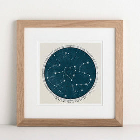 letterfest art Personalised Star Map Print