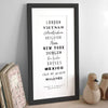 letterfest art Personalised Typographic Destination Print