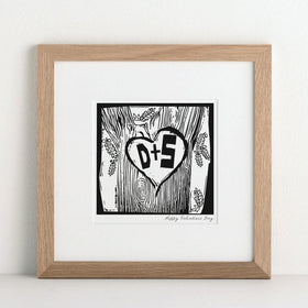 letterfest art Personalised Woodcut Print