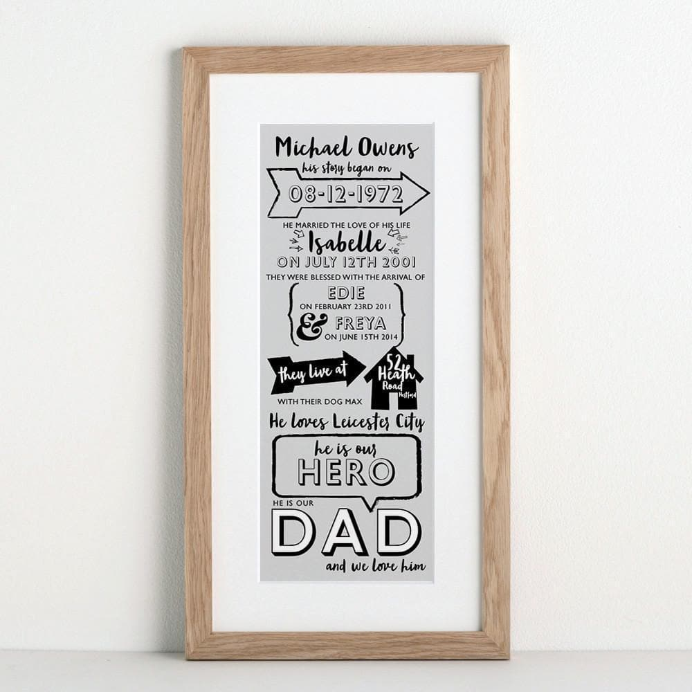 letterfest art Typographic Story of Dad