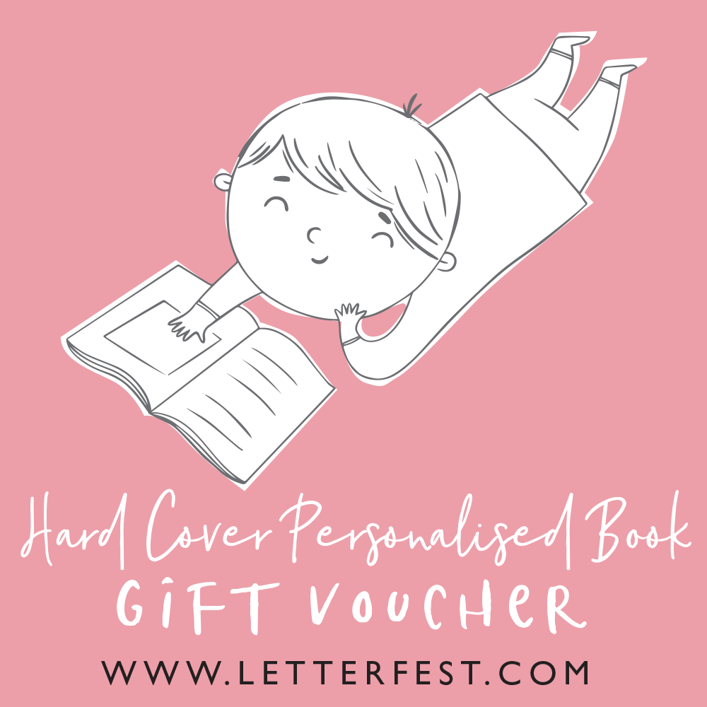 Letterfest book Hard back book voucher  (inc UK shipping) - £29.75 Personalised Childrens Book gift voucher