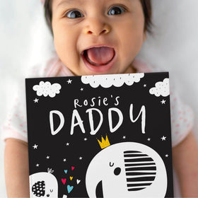 letterfest book Personalised Black And White Baby Book