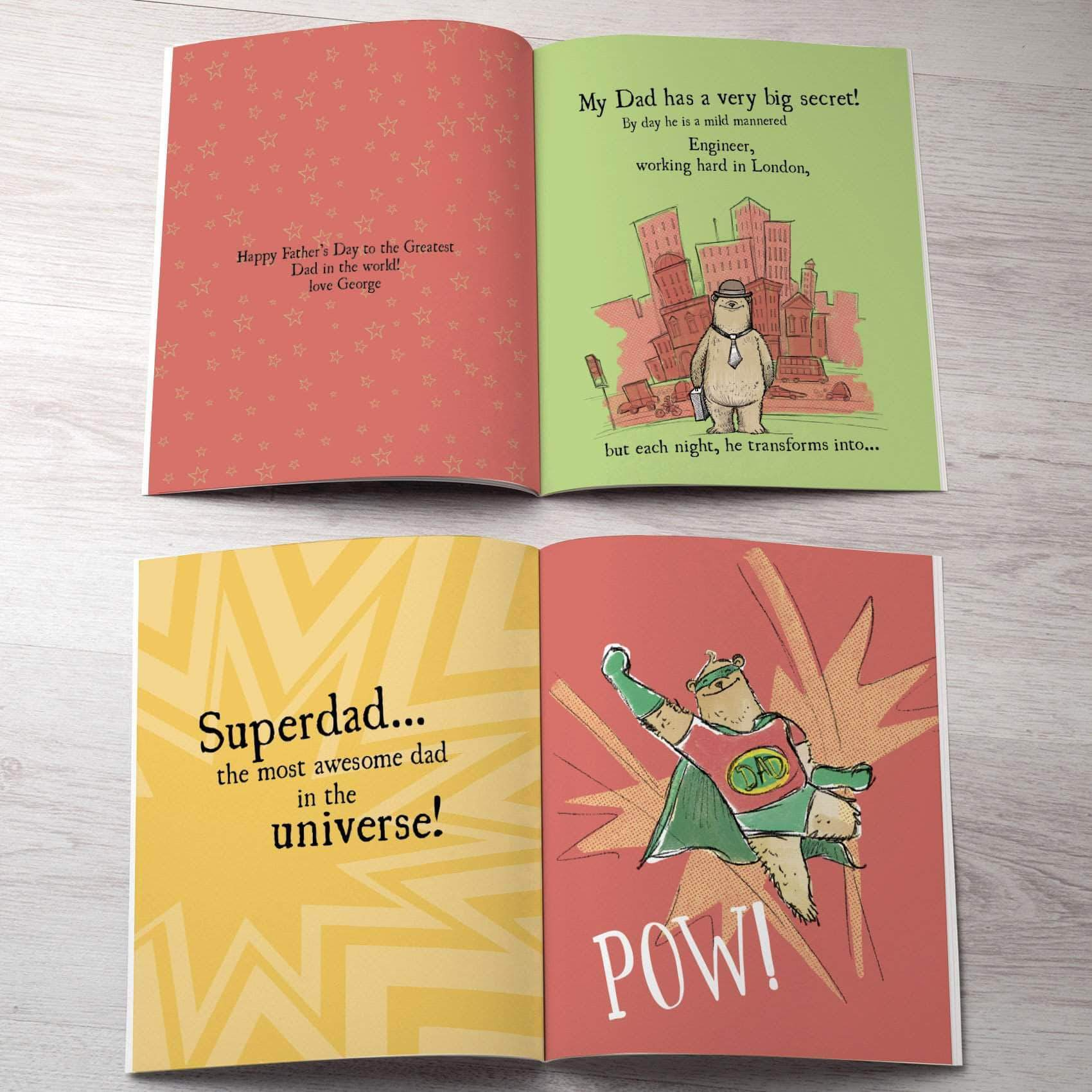 letterfest book Personalised Dad's Superhero Book