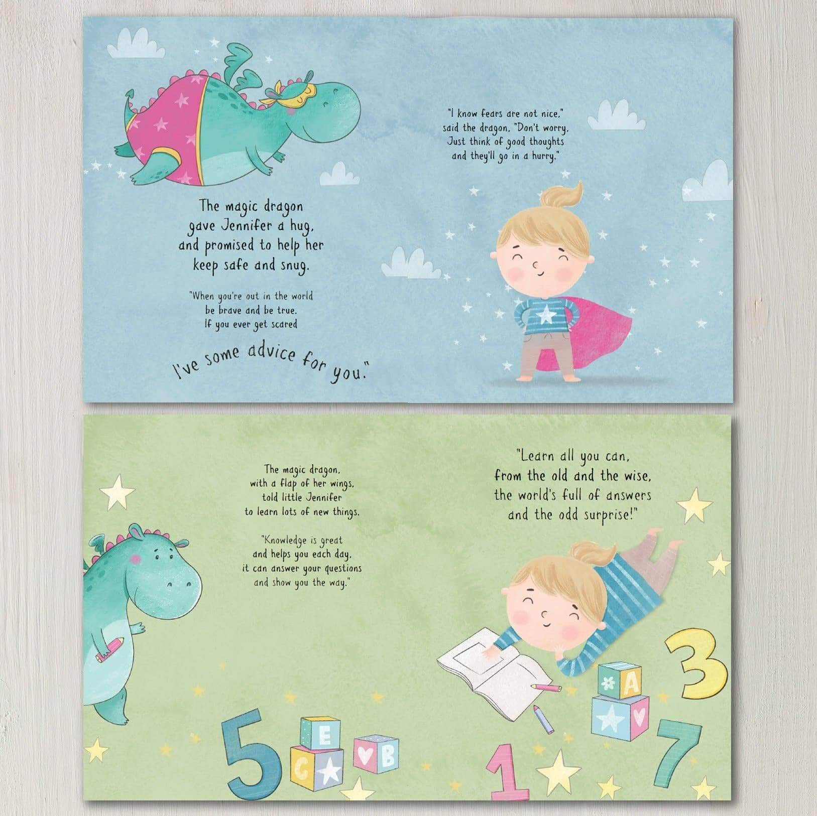 letterfest book Personalised Dragon Book For Baby Or Child