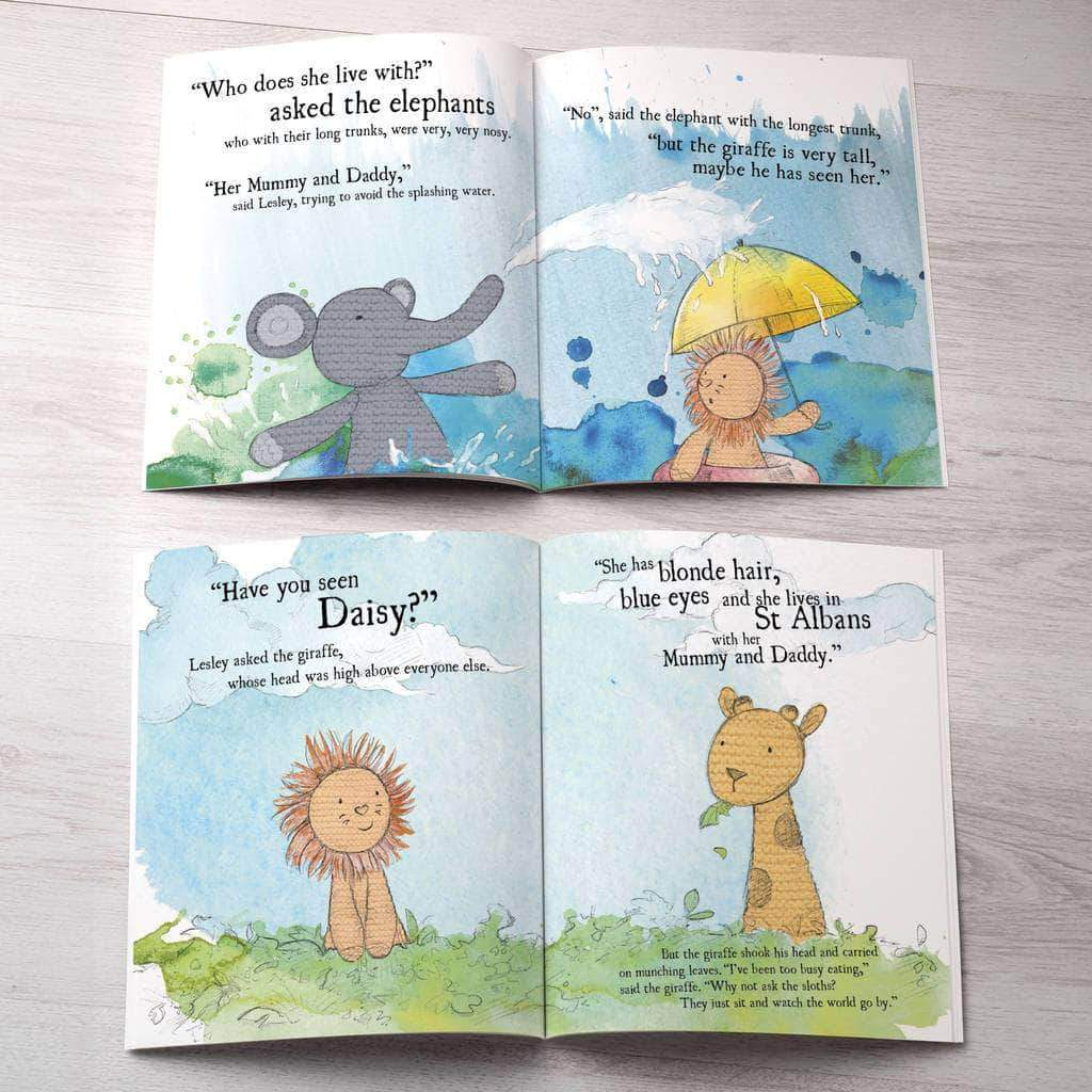 letterfest book Personalised Lion Story Book